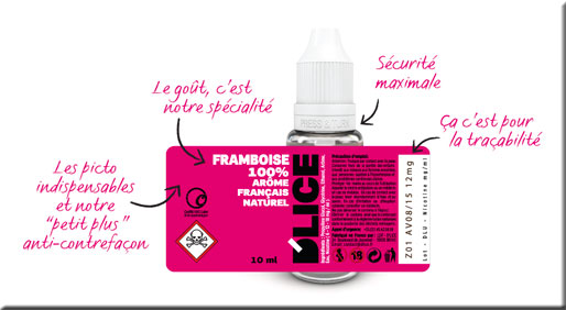 Etiquette e-liquide D'lice