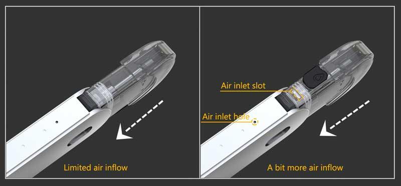 Fonctionnement de l'airflow du Kit Elven Pod