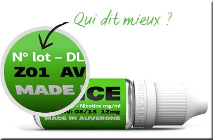Etiquette flacon D'lice