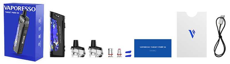 Contenu Coffret Kit Target PM80 SE Vaporesso - Ecig'N Vape