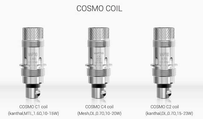 Les résistances pour le Cosmo Kit Vaptio®