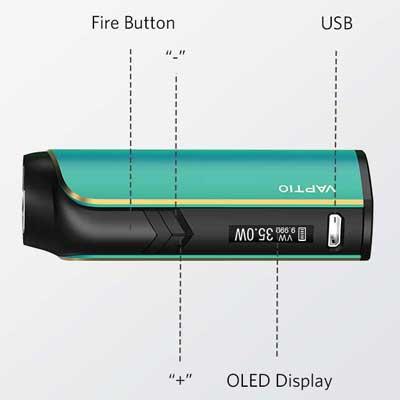 Batterie Cosmo Plus Kit de Vaptio® - Ecig'N Vape
